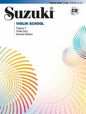 SUZUKI VIOLIN SCHOOL MUSIC BOOK & CD VOLUME 7 REVISED EDITION BRAND NEW ON SALE!