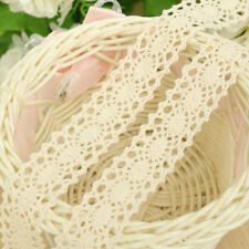 Vintage Ivory Cream Lace Wedding Trim Ribbon Craft Crochet 3 Yards Beige