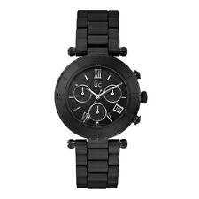 NEW WT GUESS COLLECTION GC DIVER MATTE BLACK CERAMIC CHRONO LADY WATCH X43002M2S