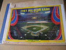 1982 FLEER TEAM LOGO STICKERS / 1981 ALL STAR GAME - CLEVELAND - PUZZLE BACK SET