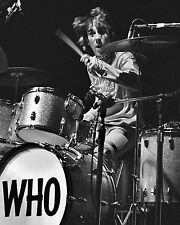 KEITH MOON ON THE DRUMS THE WHO ROCK BAND GROUP GLOSSY MUSIC 8X10 PHOTO