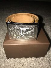Louis Vuitton LV Traveling Requisites Mens Belt Size 95 / 38 Camel Leather Belt
