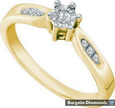 diamond eternal love promise engagement ring .06-carats 925 birthday friendship