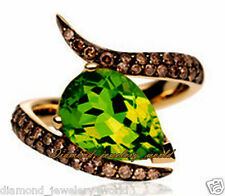 Estate Vintage 1.88ct Pave Rose Cut Diamond Emerald Jewelry Sterling Silver Ring