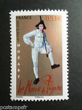 FRANCE 2006, timbre 3918, CELEBRITE, MOZART, COSTUME FIGARO, neuf**, MNH STAMP