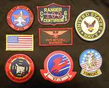 TOP GUN MAVERICK PETE MITCHELL US NAVY NAME TAG FLIGHT JACKET IRON 8 PATCH SET