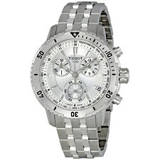 Tissot PRS 200 Silver Dial Chronograph Stainless Steel Bracelet Mens Watch