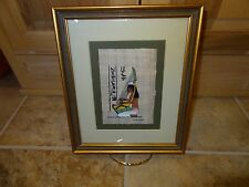 8 X 10 EGYPTIAN HIEROGLYPHICS FRAMED ART BY TRADE WIND GALLERY