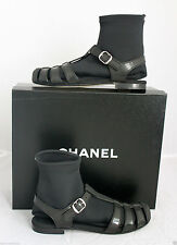 Used 12A SPRING/SUMMER CHANEL JELLY SANDALS WITH SOCKS US SZ 5/35*US SELLER*