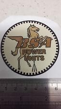 Bsa puissance unités stationary moteur decal gold vintage