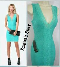 NWT BEBE Lace deep double V neck Dress SIZE S  MSRP $140.00+ !!! sexy but classy