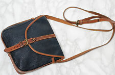 MULBERRY Vintage Leather & Scotchgrain Small Classic Saddle Satchel Shoulder Bag