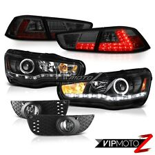 08-12 Lancer GTS Black Projector Headlight Smoke LED Tail Lamp Clear Driving Fog