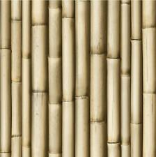 NEW LUXURY MURIVA BLUFF BAMBOO BROWN PANEL FAUX WOOD EFFECT 10M WALLPAPER J22317
