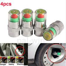 4Pcs Car Auto Tire Monitor Valve Dust Cap Pressure Indicator Sensor Eye Alert