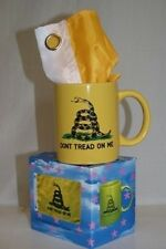 Yellow Gadsden Dont Tread on Me12 oz Ceramic Mug w/ 12x18 tea party flag