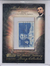 2009 TOPPS HERITAGE A HEROES JOURNEY ABRAHAM LINCOLN HIS-AL 20 #025/100 STAMP