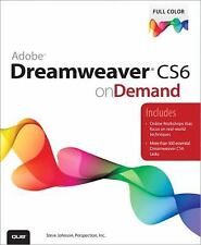 Adobe Dreamweaver CS6 on Demand by Johnson, Steve, Perspection Inc., Good Book
