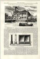 1890 Riverfront Refrigerating Works Shadwell Thwaite Heliograph Print Bath