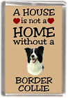 "Border Collie Dog Fridge Magnet ""A HOUSE IS NOT A HOME"" by Starprint"