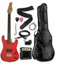 "Raptor 3/4 Scale 36"" Kid's Starter Electric Guitar Pack RED w/ FREE TUNER!"