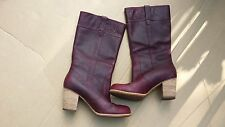 Timberland Women's Boots Rudston Burgundy Weather Proof Pull On SZ 8.5