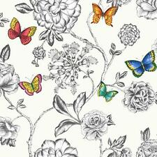 HOLDEN DÉCOR KEILENA FLORAL PATTERN BUTTERFLY ROSE FLOWER MOTIF WALLPAPER WH-MUL