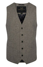 MENS FARRELL GREY SUMMER WAISTCOAT JACKET BRITISH VINTAGE GENUINE BNWT S