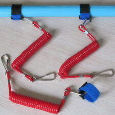 3Pcs Kayak Canoe Boat Fishing Rod/Paddle Leash Velcro Bungee Cord XD