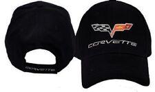 C6 CORVETTE BLACK EMBROIDERED PREMIUM BRUSHED COTTON HAT