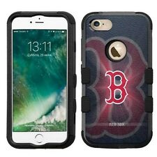 for Apple iPhone 7 Impact Armor Rugged Hard Hybrid Cover Case Boston Red Sox #B