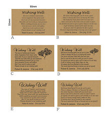 100 Personalised WISHING WELL KRAFT CARDS General Poem Wedding Invitations
