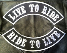 LIVE TO RIDE RIDE TO LIVE  TOP BOTTOM ROCKER JACKET VEST  (XXL) MC BIKER PATCH
