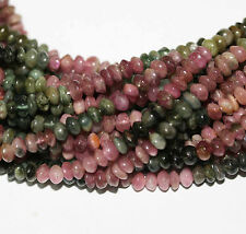 "14"" St Multi Tourmaline Rondelle   Gems Beads 4mm"
