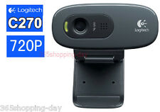 Logitech C270 HD Vid 720P Webcam With MIC Micphone Video Calling For Android TV