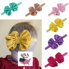Lot of 16 Big Chiffon Bow Headbands Baby Toddler Girls Newborn Infant Headwear