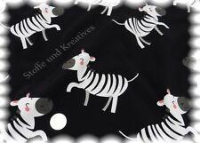 Softshell Zebra schwarz Kinderstoff Jackenstoff Outdoor 50 cm wasserabweisend
