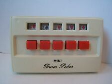 Mini Draw Poker 1972 Tandy Handheld Electric Card Game w/ Box Works but Squeals