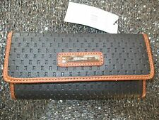 NEW NINE WEST CLUTCH CHECKBOOK WALLET $39 Retail Black Picnic Day