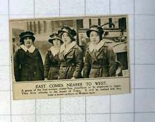 1920 First Women Motor Bus Chauffeurs To Be Employed In Japan Smart Uniforms