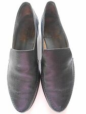 BALLY of Switzerland Men's Oxford Slip On Black Leather Shoes sz 9B