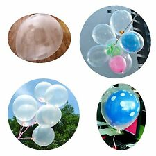 100x Transparent Crystal Clear Latex Balloons Wedding Birthday Party Decor US