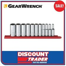 "GearWrench 11 Piece 3/8"" Drive 12 Point Deep SAE Socket Set - 80563"