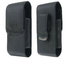 Black Leather Case Pouch Holster for Sprint / Virgin Mobile Kyocera Hydro Vibe