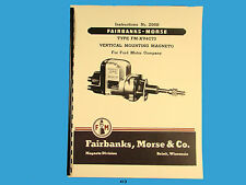 Fairbanks Morse Magneto Instruct & Parts Manual for Ford FM-XV4C73 Magnetos *413