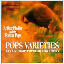 "ARTHUR FIEDLER AND THE BOSTON POPS ""POPS VARIETIES"" (9 LPS) PPREMIUM USED LP NM"
