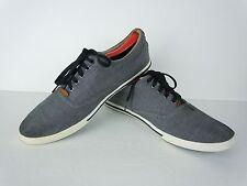 Men's Aldo Grey Canvas Lace Up Fashion Sneakers US 10.5