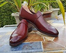 CARMINA Single Monkstrap Plain Toe-Rain Last- Burdeos (Burgundy)- Mint- US 10.5