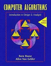 Computer Algorithms : Introduction to Design and Analysis by Sara Baase and...