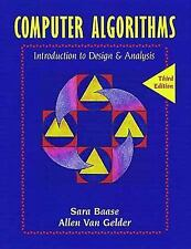 Computer Algorithms: Introduction to Design and Analysis (3rd Edition) by Baase